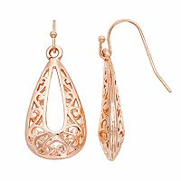 Filigree Nickel Free Teardrop Earrings