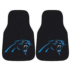 FANMATS Carolina Panthers 2-Pack Carpeted Car Mats