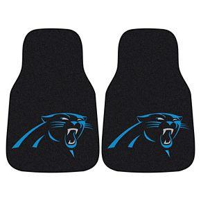 FANMATS Carolina Panthers 2-Pack Carpeted Car Mats