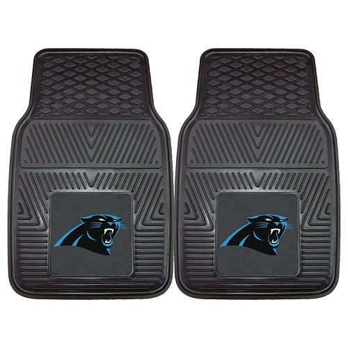 FANMATS Carolina Panthers 2-Pack Heavy Duty Car Mats