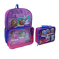 Kids Shopkins #Selfie Backpack & Lunch Bag Set