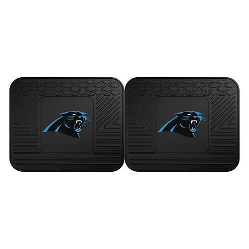 FANMATS Carolina Panthers 2-Pack Utility Backseat Car Mats
