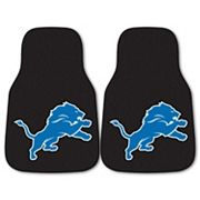 FANMATS Detroit Lions 2-Pack Carpeted Car Mats