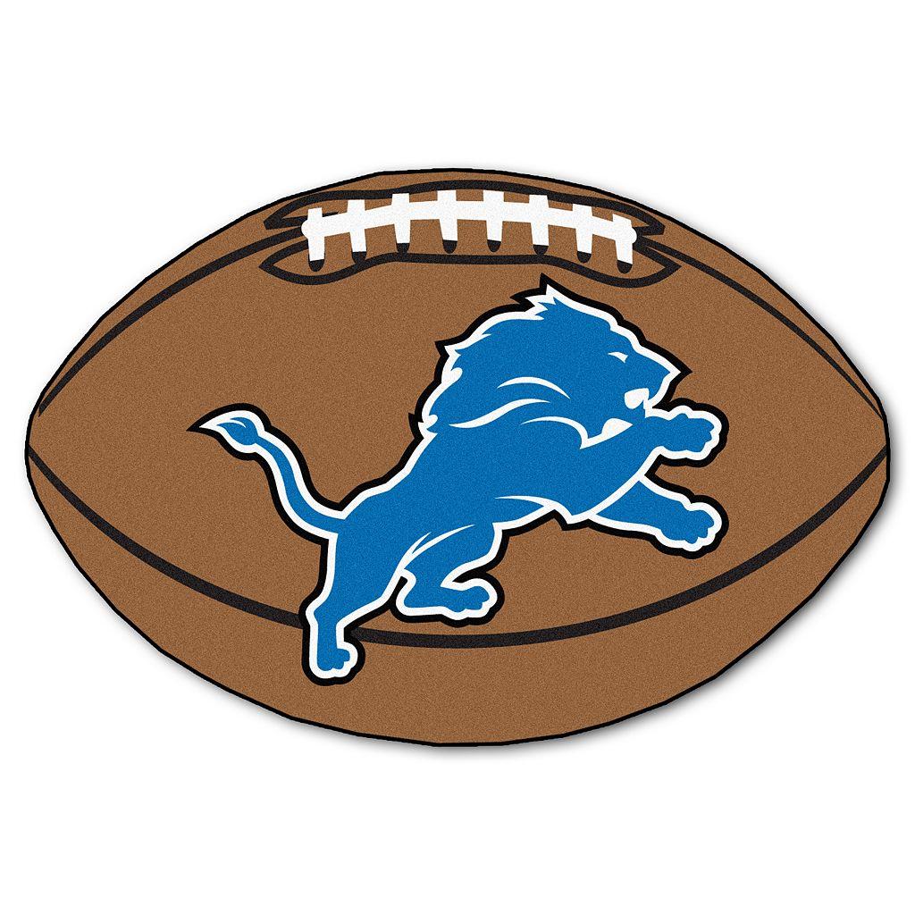 FANMATS Detroit Lions Football Rug