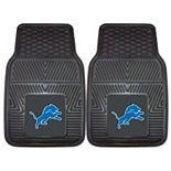 FANMATS Detroit Lions 2-Pack Heavy Duty Car Mats