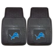 FANMATS Detroit Lions 2-Pack Heavy Duty Car Mats