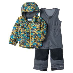 Toddler Boy Columbia OUTGROWN Camouflage Jacket & Reinforced Bib Snow Pants Set