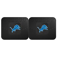 FANMATS Detroit Lions 2-Pack Utility Backseat Car Mats