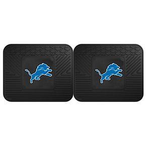 FANMATS Detroit Lions 2-Pack Utility Backseat Car Mats