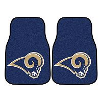 FANMATS Los Angeles Rams 2-Pack Carpeted Car Mats
