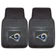 FANMATS Los Angeles Rams 2-Pack Heavy Duty Car Mats