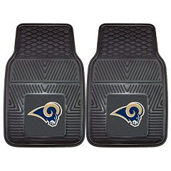 FANMATS Los Angeles Rams 2-Pack Heavy Duty Car Mats
