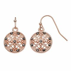 Apt. 9® Openwork Disc Nickel Free Drop Earrings