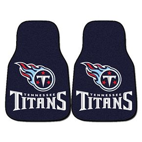 FANMATS Tennessee Titans 2-Pack Carpeted Car Mats