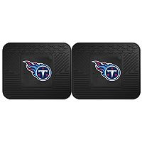 FANMATS Tennessee Titans 2-Pack Utility Backseat Car Mats