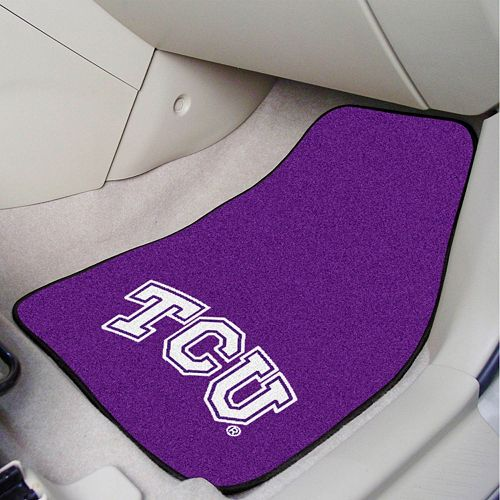 FANMATS TCU Horned Frogs 2-Pack Carpeted Car Mats