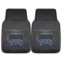 FANMATS TCU Horned Frogs 2-Pack Heavy Duty Car Mats