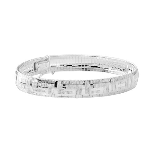 Sterling Silver Geometric Bangle Bracelet