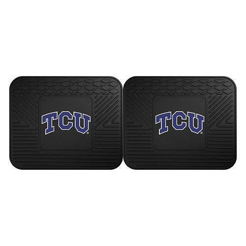 FANMATS TCU Horned Frogs 2-Pack Utility Backseat Car Mats