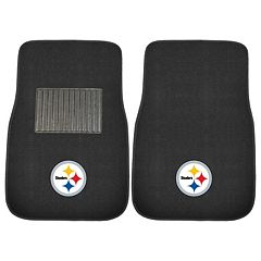 FANMATS Pittsburgh Steelers 2-Pack Embroidered Car Mats