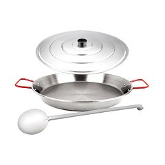 Magefesa 3 pc Stainless Steel Paella Pan Set