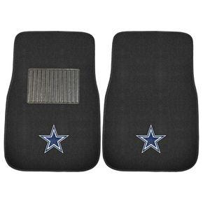 FANMATS Dallas Cowboys 2-Pack Embroidered Car Mats