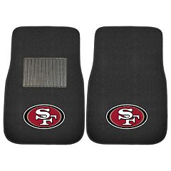 FANMATS San Francisco 49ers 2-Pack Embroidered Car Mats