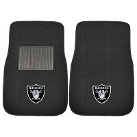 FANMATS Oakland Raiders 2-Pack Embroidered Car Mats
