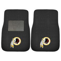 FANMATS Washington Redskins 2-Pack Embroidered Car Mats