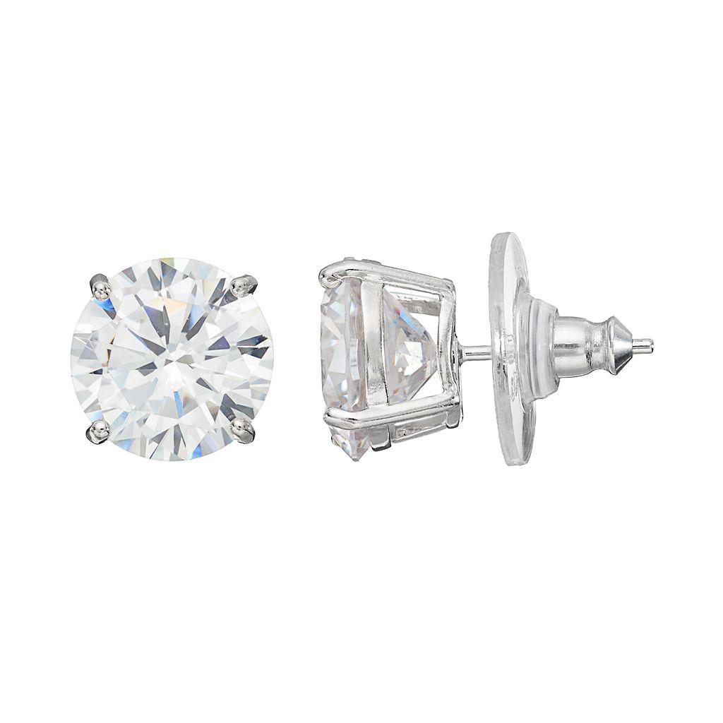 PRIMROSE Sterling Silver Cubic Zirconia Stud Earrings