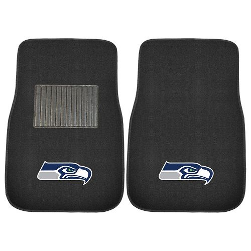 FANMATS Seattle Seahawks 2-Pack Embroidered Car Mats