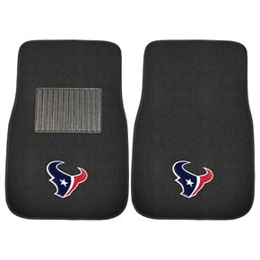 FANMATS Houston Texans 2-Pack Embroidered Car Mats