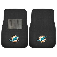 FANMATS Miami Dolphins 2-Pack Embroidered Car Mats