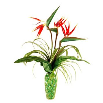 Designs by Lauren Artificial Bird of Paradise Arrangement in Embossed Vase