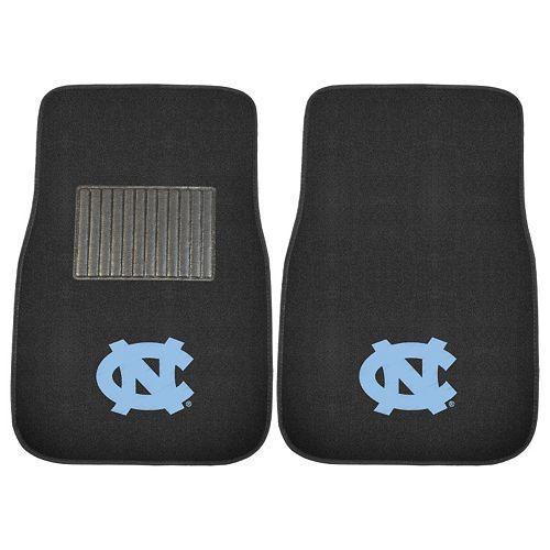 FANMATS North Carolina Tar Heels 2-Pack Embroidered Car Mats
