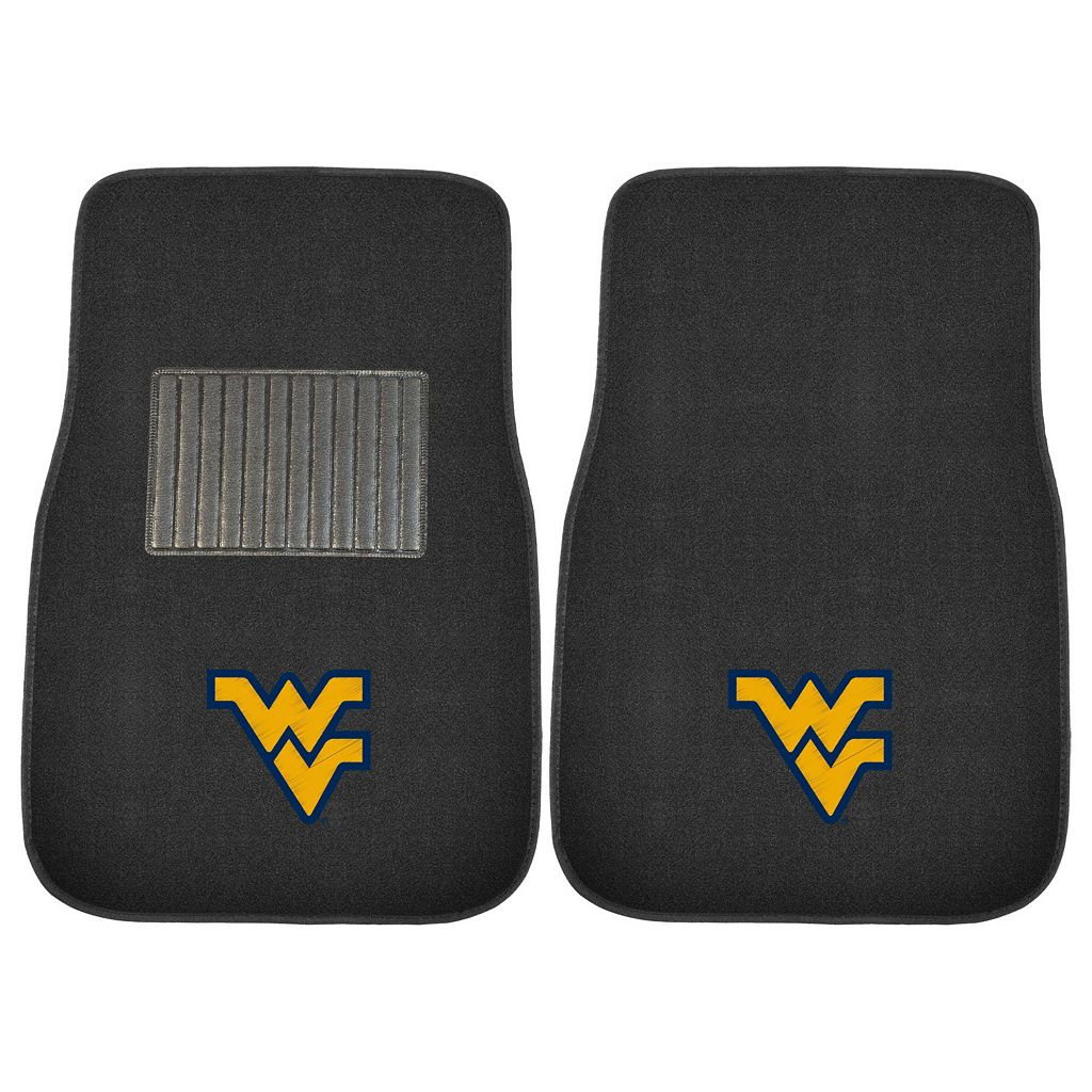 FANMATS West Virginia Mountaineers 2-Pack Embroidered Car Mats