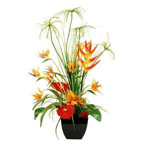 Designs by Lauren Artificial Deluxe Tropical Arrangement in Square Vase