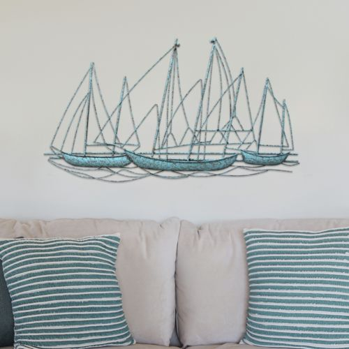 "Stratton Home Decor ""Grand Sailboat"" Metal Wall Decor"