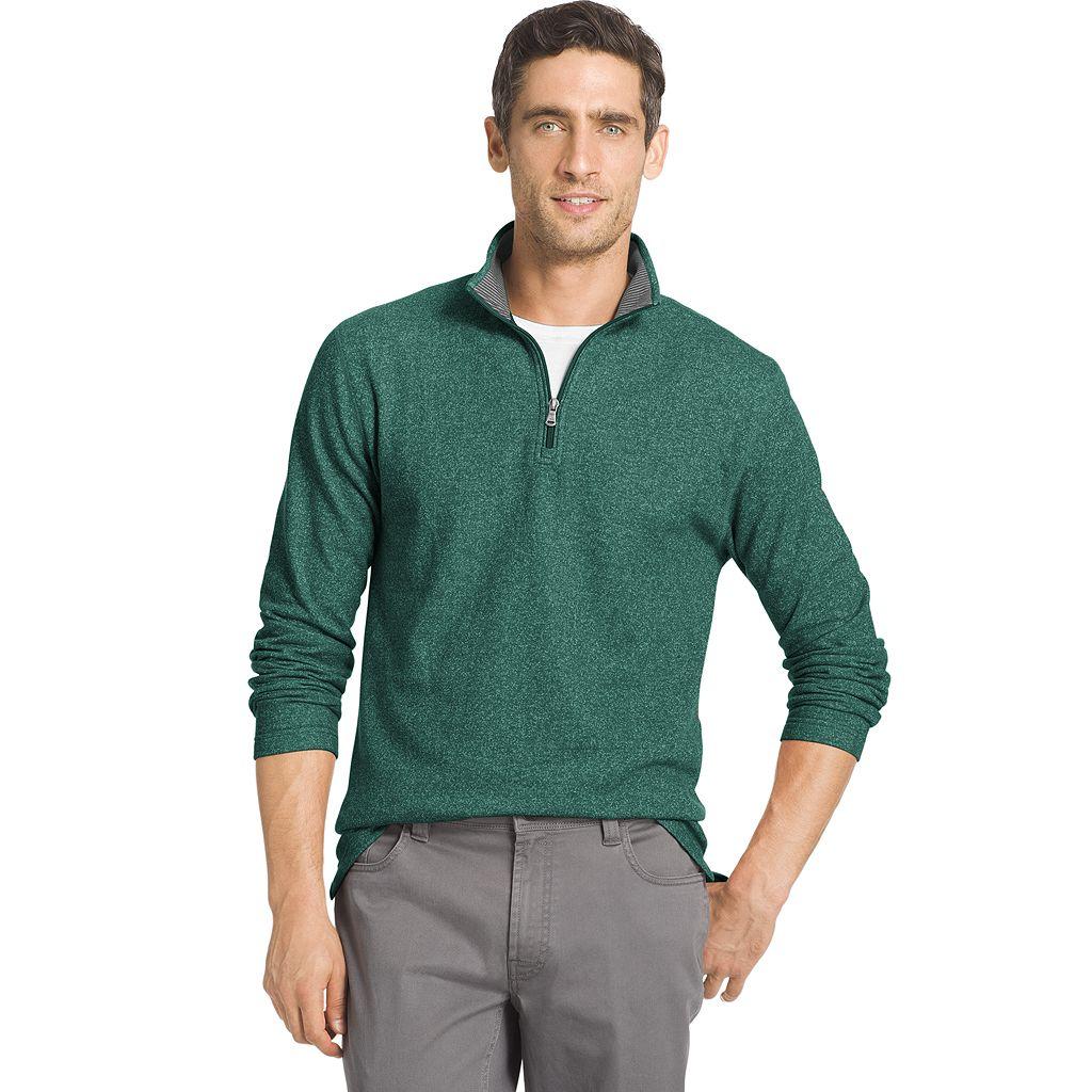 Men's IZOD Heathered Quarter-Zip Fleece