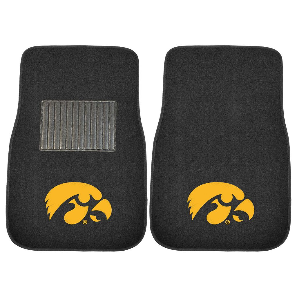 FANMATS Iowa Hawkeyes 2-Pack Embroidered Car Mats