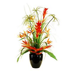 Designs by Lauren Artificial Deluxe Tropical Arrangement in Tapered Vase