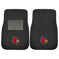 FANMATS Louisville Cardinals 2-Pack Embroidered Car Mats