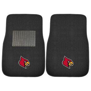 FANMATS Louisville Cardinals 2-Pack Embroidered Car Mats