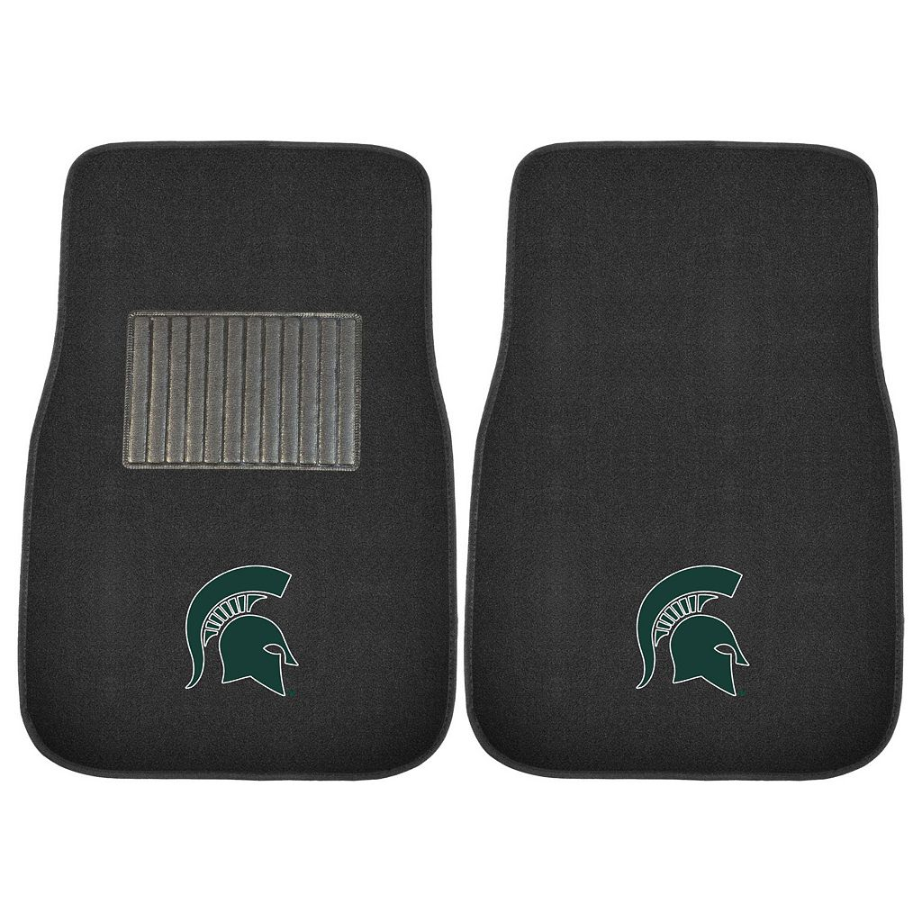 FANMATS Michigan State Spartans 2-Pack Embroidered Car Mats