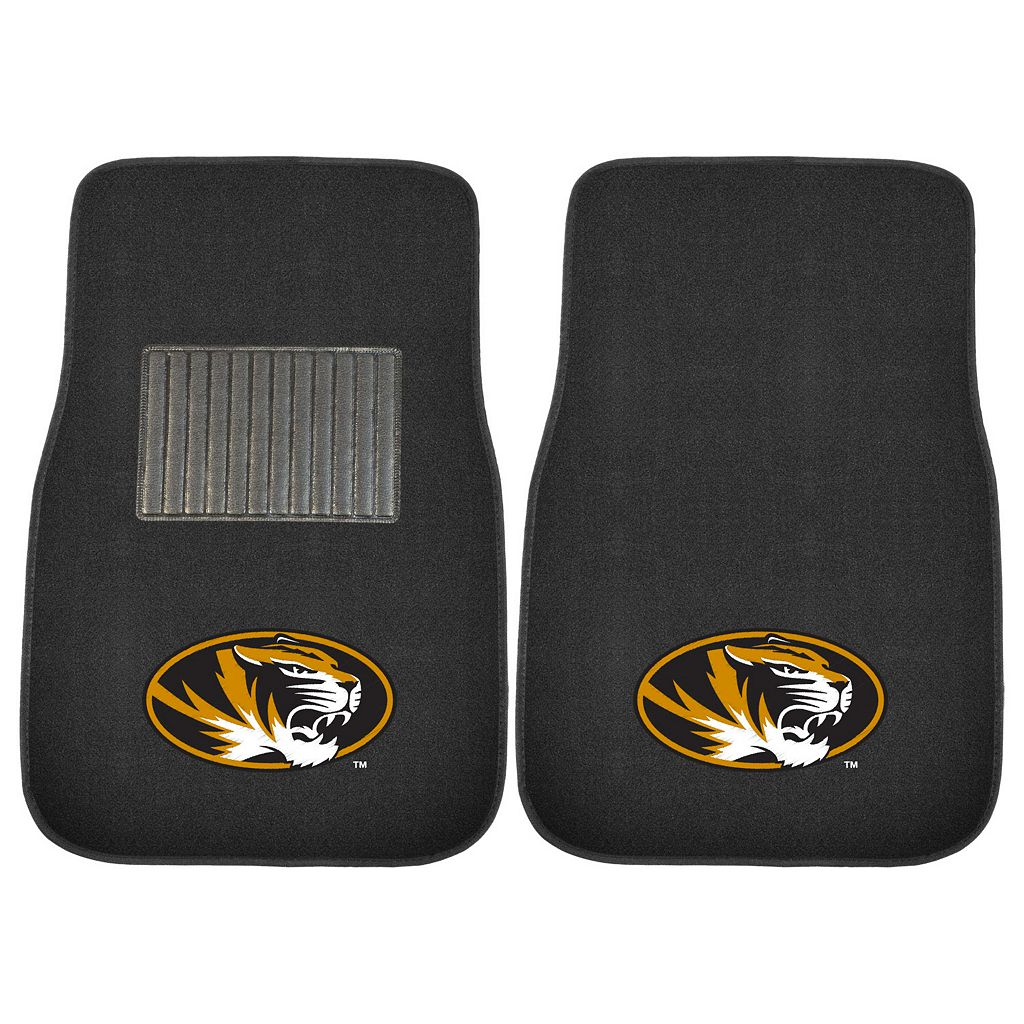 FANMATS Missouri Tigers 2-Pack Embroidered Car Mats