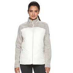 Womens White Fleece Jackets Coats &amp Jackets - Outerwear Clothing