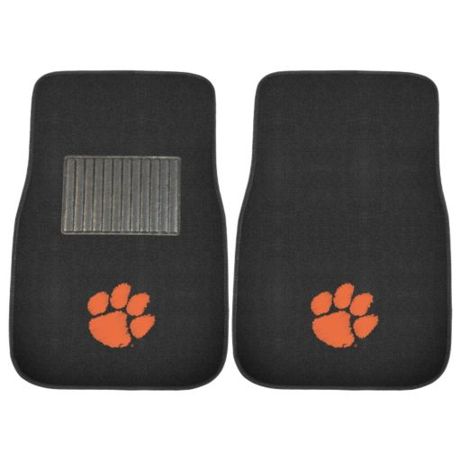 FANMATS Clemson Tigers 2-Pack Embroidered Car Mats
