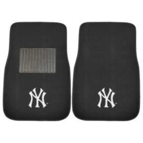 FANMATS New York Yankees 2-Pack Embroidered Car Mats