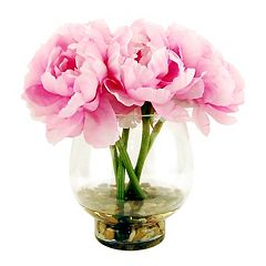 Designs by Lauren Artificial Pink Peonies Arrangement