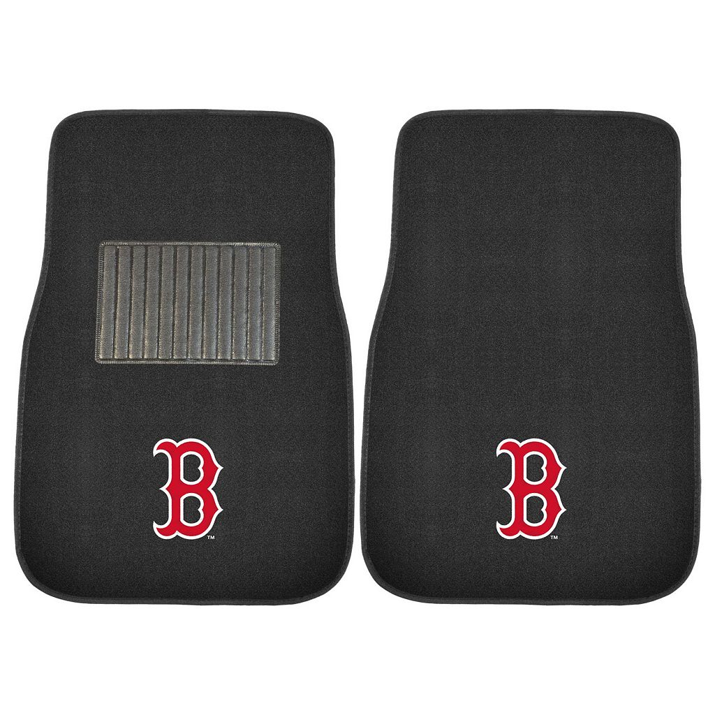 FANMATS Boston Red Sox 2-Pack Embroidered Car Mats